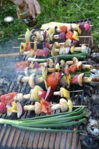 kasvissyöjän grilliruokaa